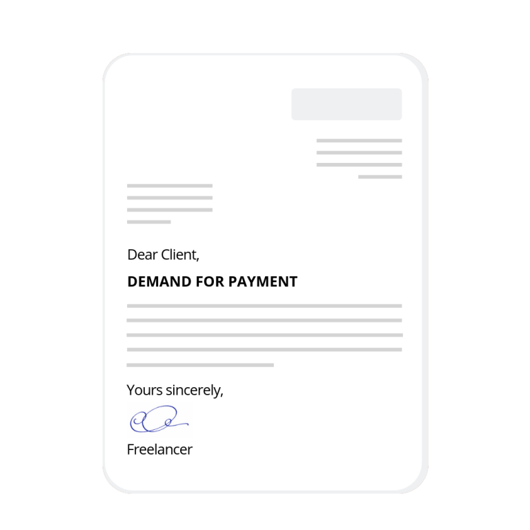 Start building your demand letter for payment now!
