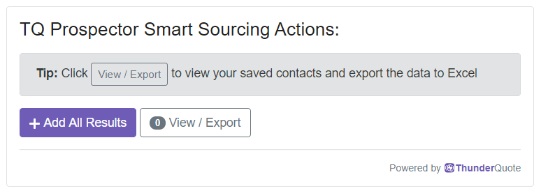 Smart Sourcing Actions - Add All Results