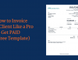 A mock-up of an invoice